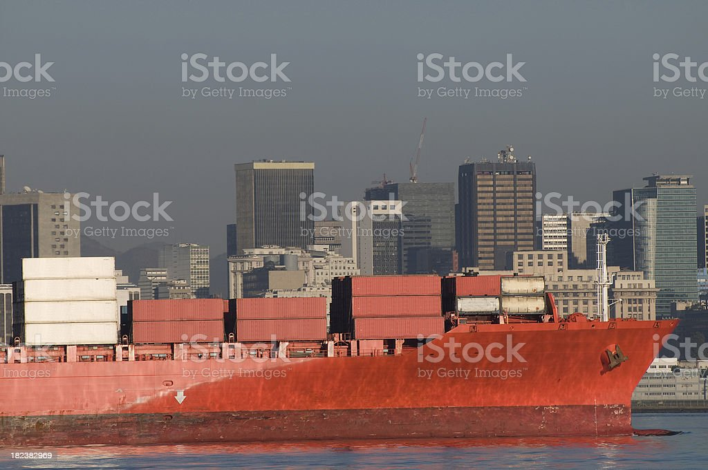 Container cargo tranportation royalty-free stock photo