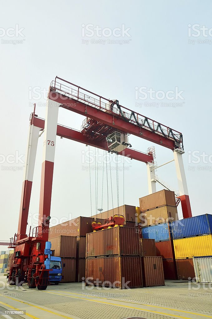 Container cranes royalty-free stock photo