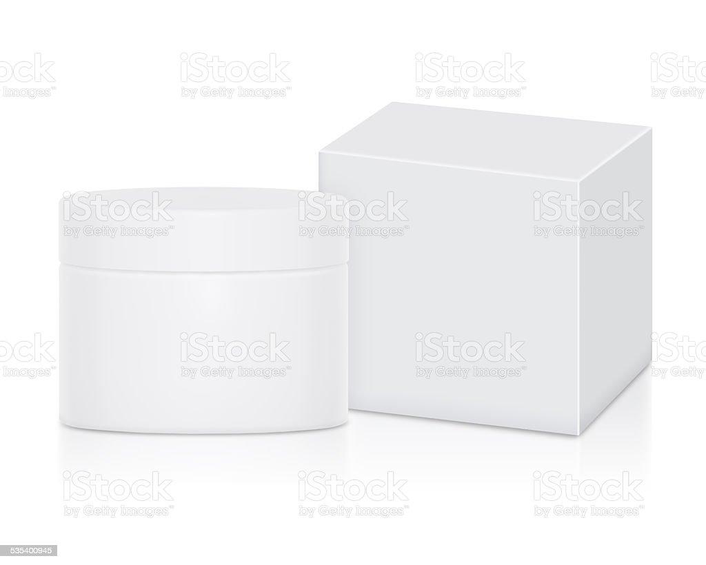Container Cream Set No Label stock photo