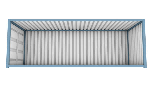 Container cut away stock photo