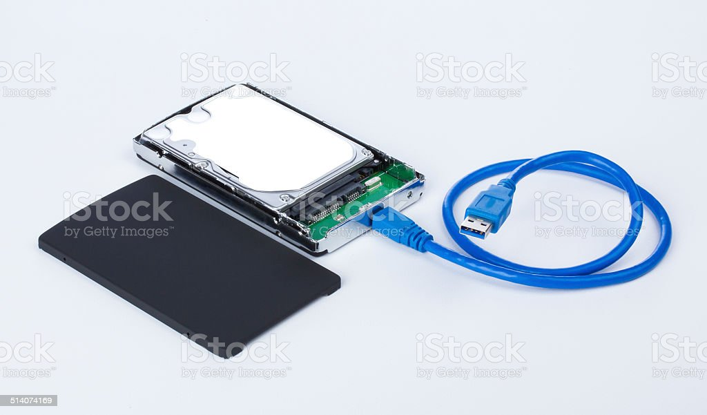 Container for the hard disk. stock photo