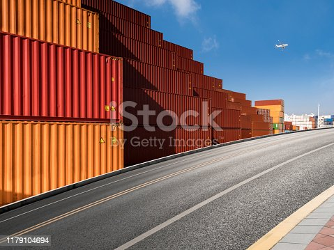 Global business logistics import export background and container cargo freight ship transport concept.