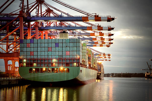 container harbor - harbor stock photos and pictures