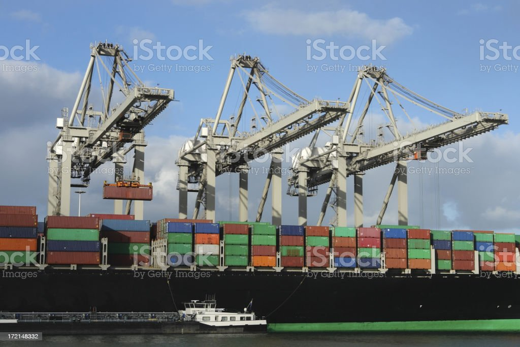 Container harbour stock photo