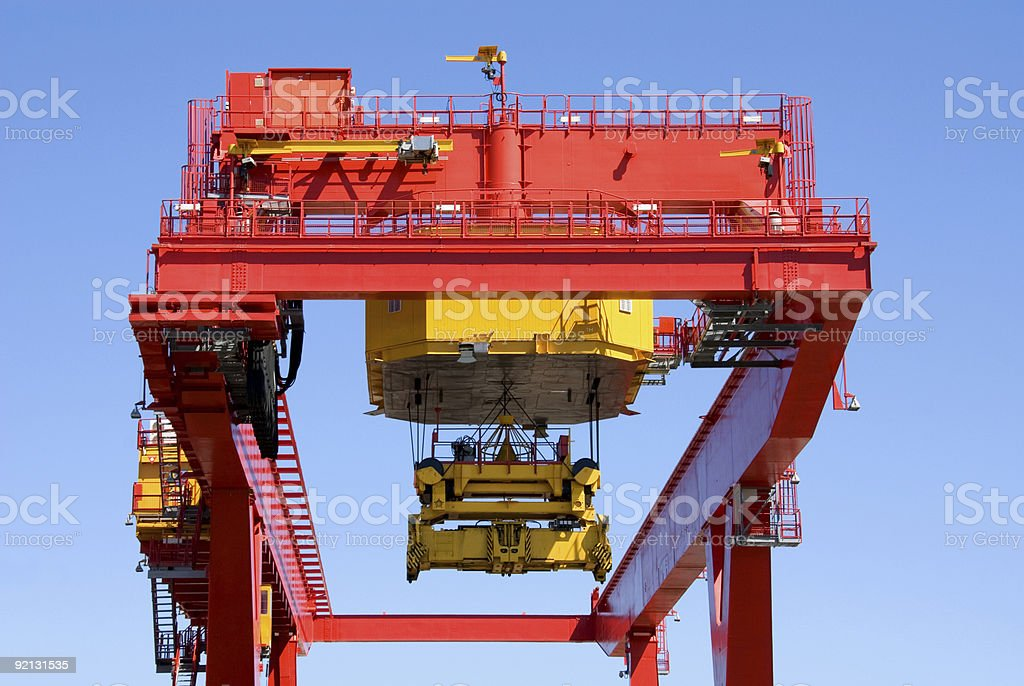 Container Loader stock photo