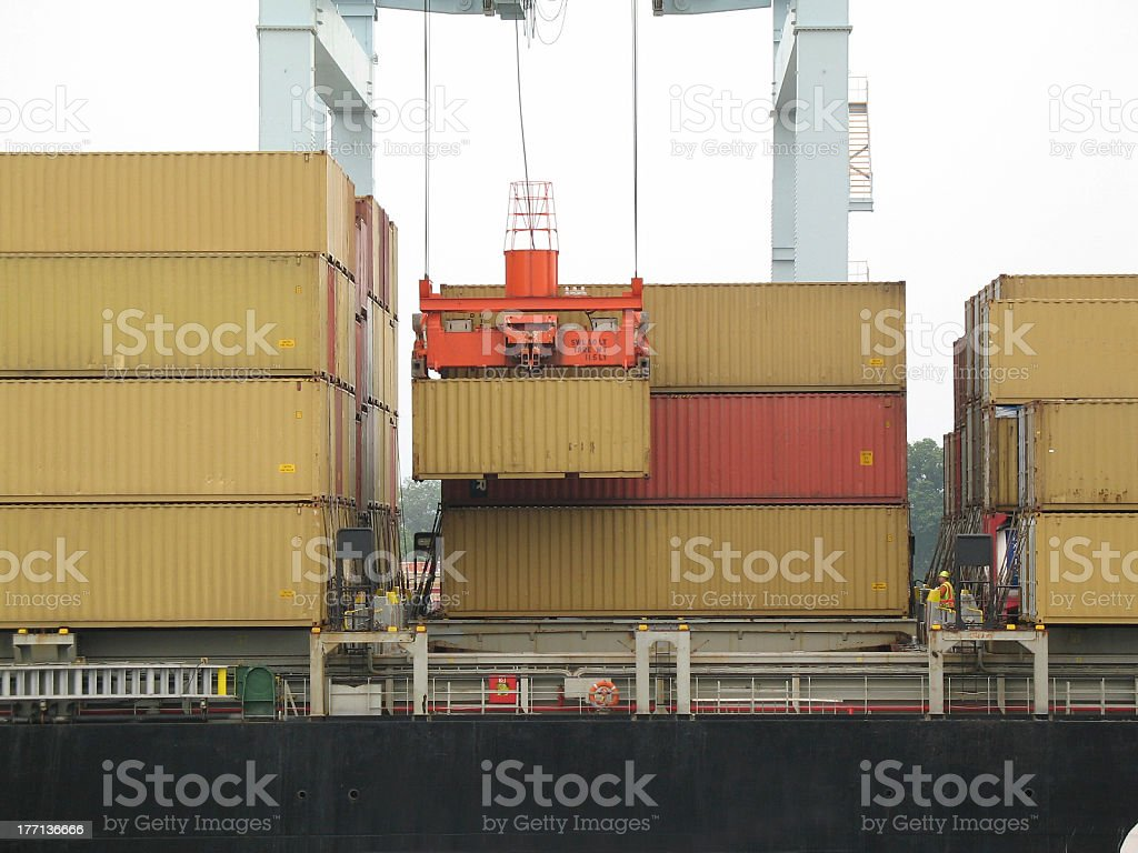 Container Loading royalty-free stock photo