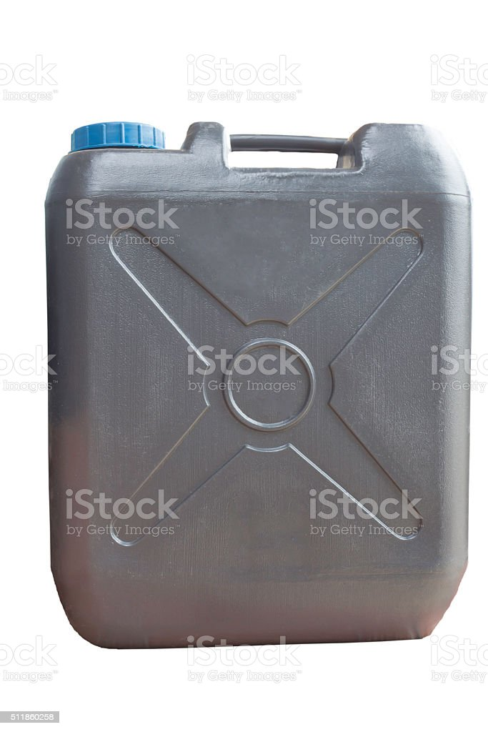 container of 20 liters black stock photo