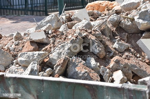 Container of construction waste