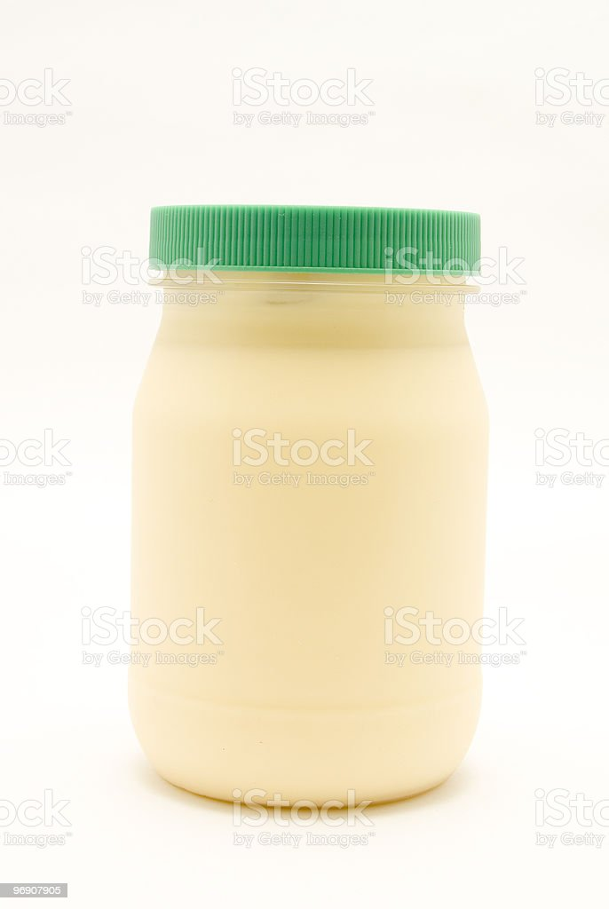 container of mayonnaise royalty-free stock photo