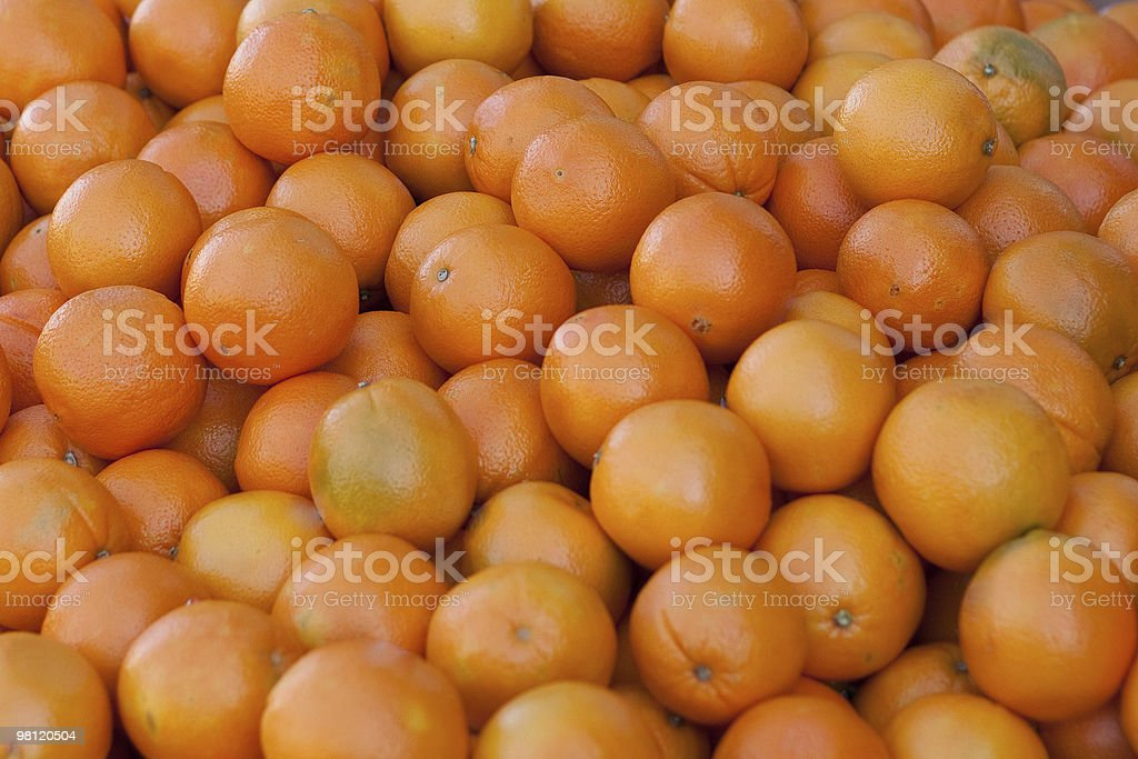 Container of Oranges royalty-free stock photo