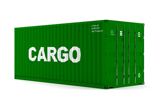 Container para transporte marítimo internacional.