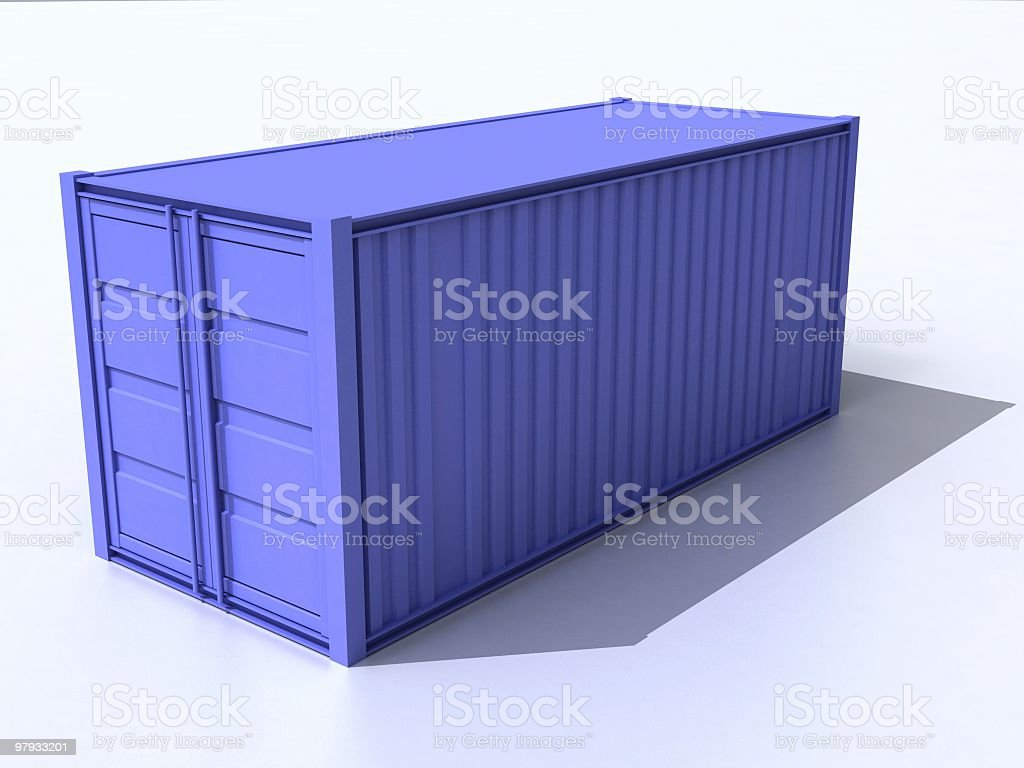 3D container royalty-free stock photo