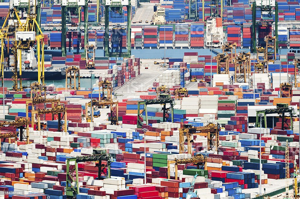 Container Port stock photo