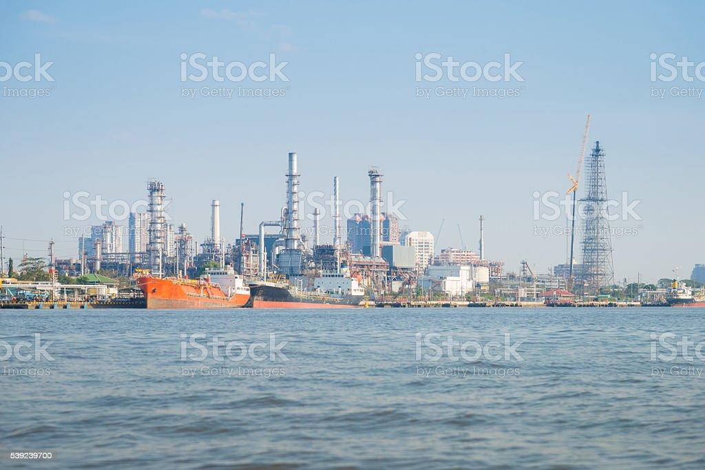 Navio de Contêiner de carga e logística do Porto na Ásia, foto royalty-free