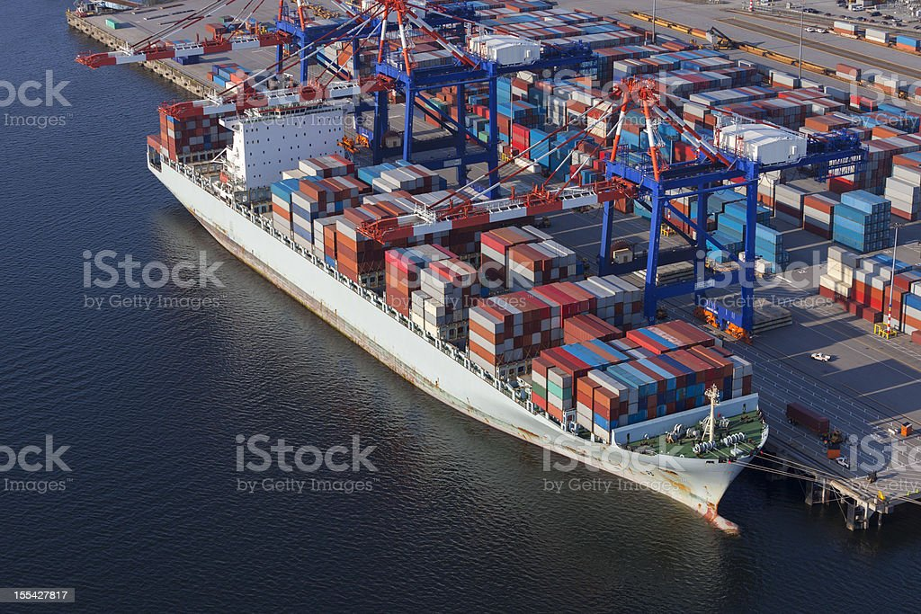 Container Ship at Port royalty-free stock photo