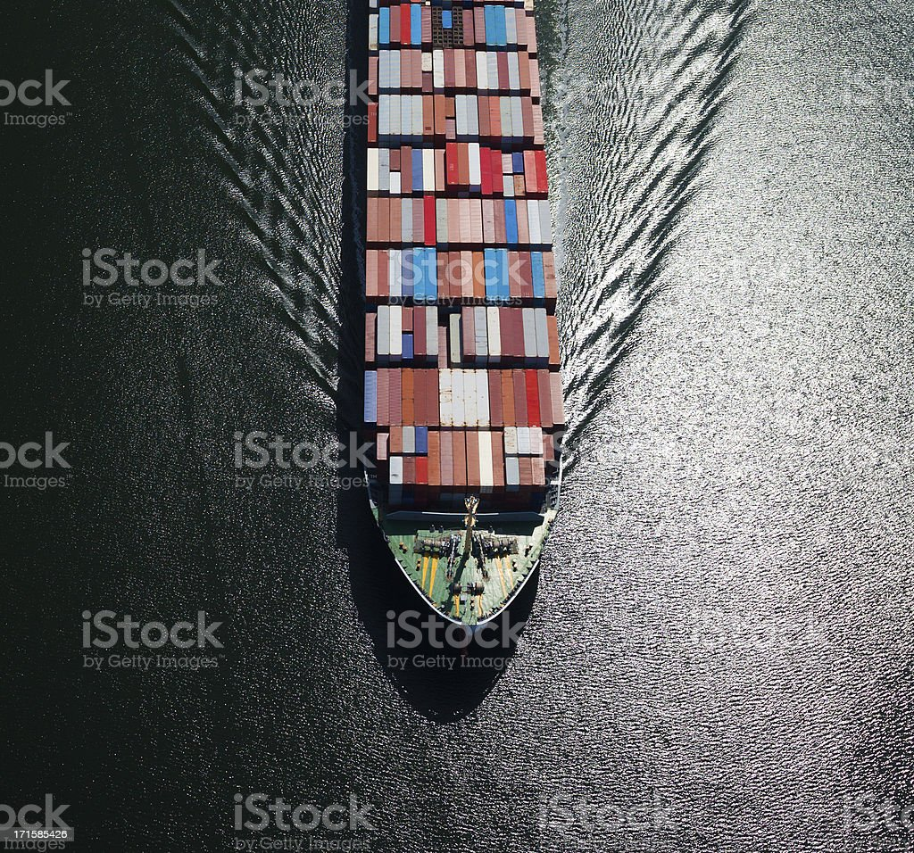 Container Ship Bow royalty-free stock photo