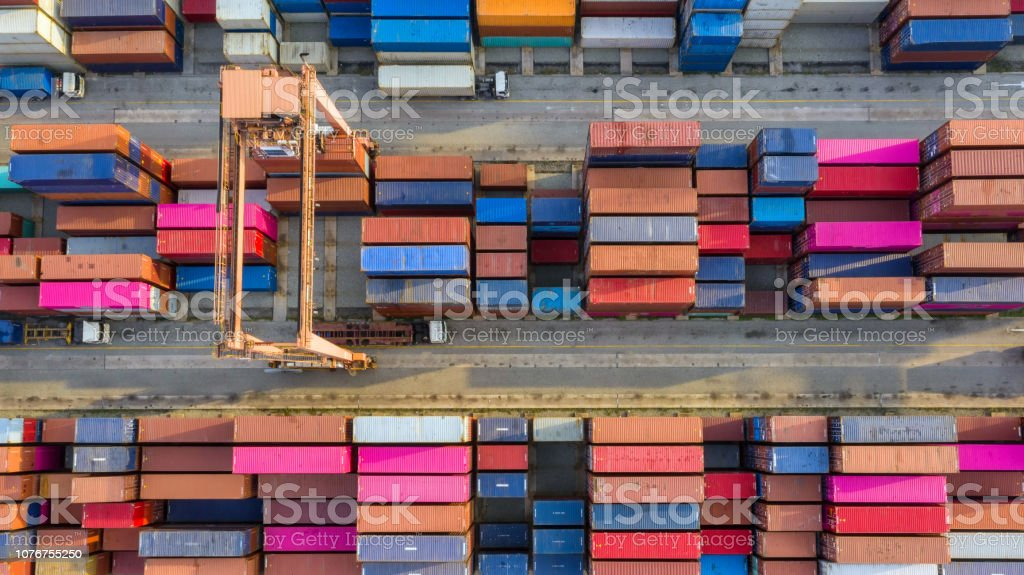 Container ship in export and import business and logistics. Shipping...