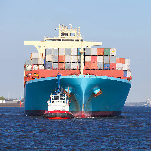 Frachtschiff in Hamburg – Foto