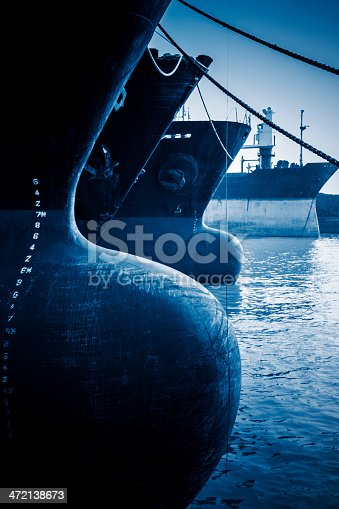 istock Container ship in harbor 472138673