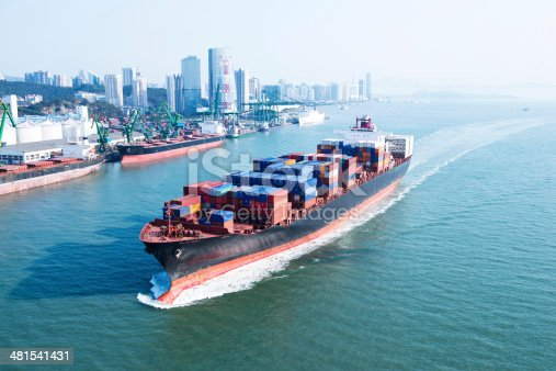 637816284istockphoto Container ship in transit 481541431
