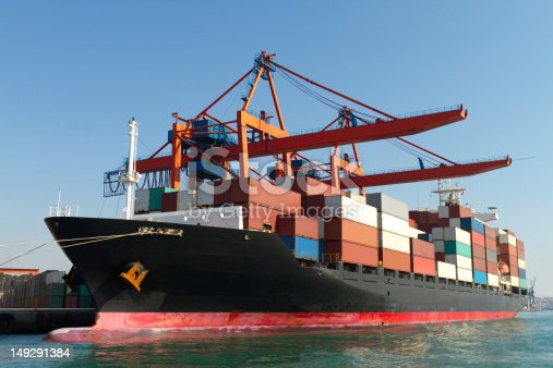 697974610istockphoto Container Ship 149291384