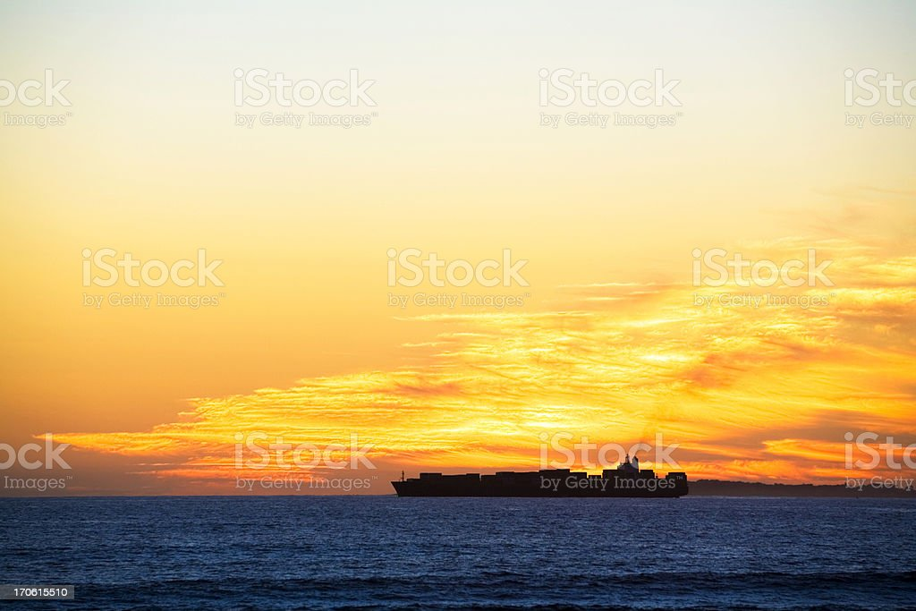 Container ship #2 royalty-free stock photo