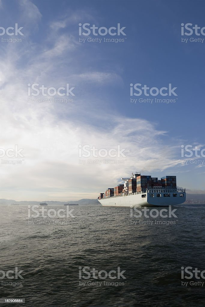 Container ship. royalty-free stock photo