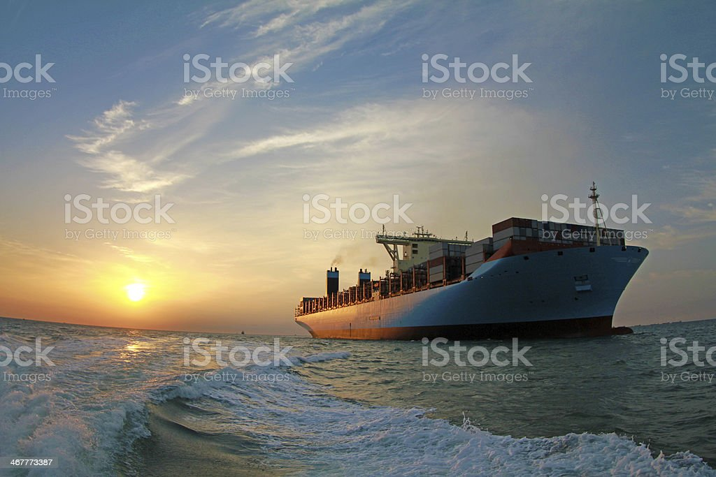 Container ship stock photo