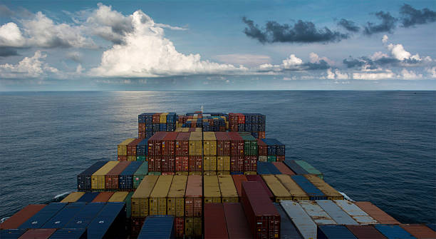Container Ship Sailling stock photo