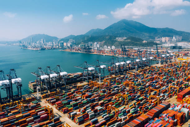 Container ship terminal in Shenzhen, China