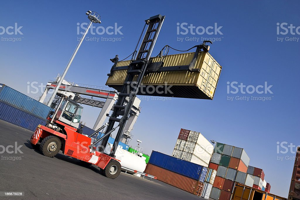 Container Shipping Station royalty-free stock photo