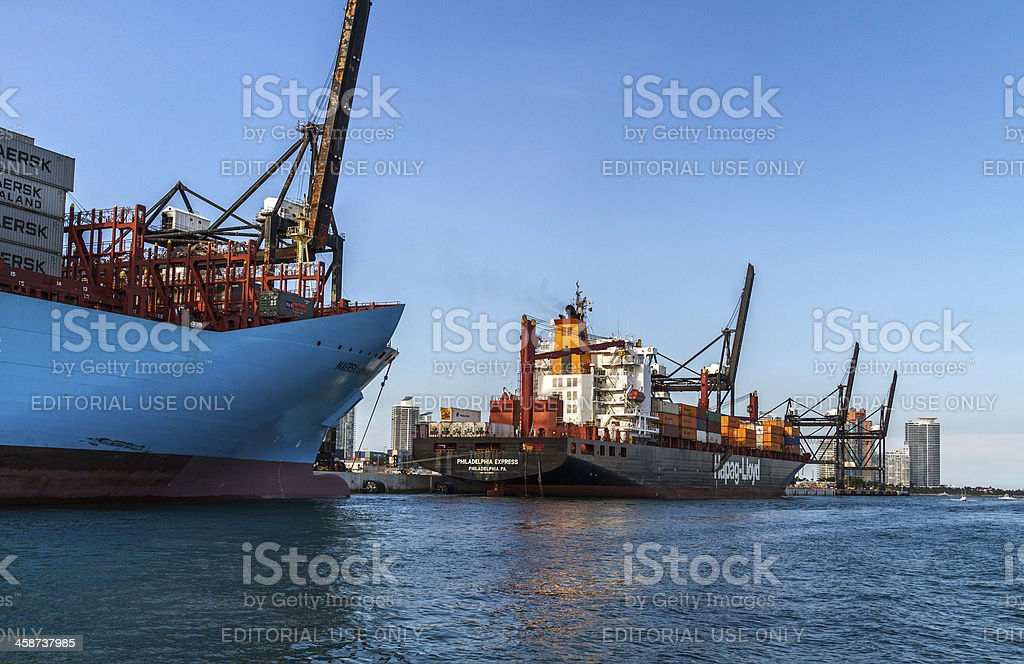 Container Ships II stock photo