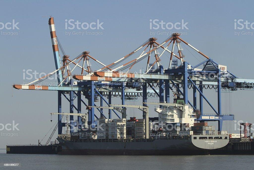 container terminal bremen stock photo