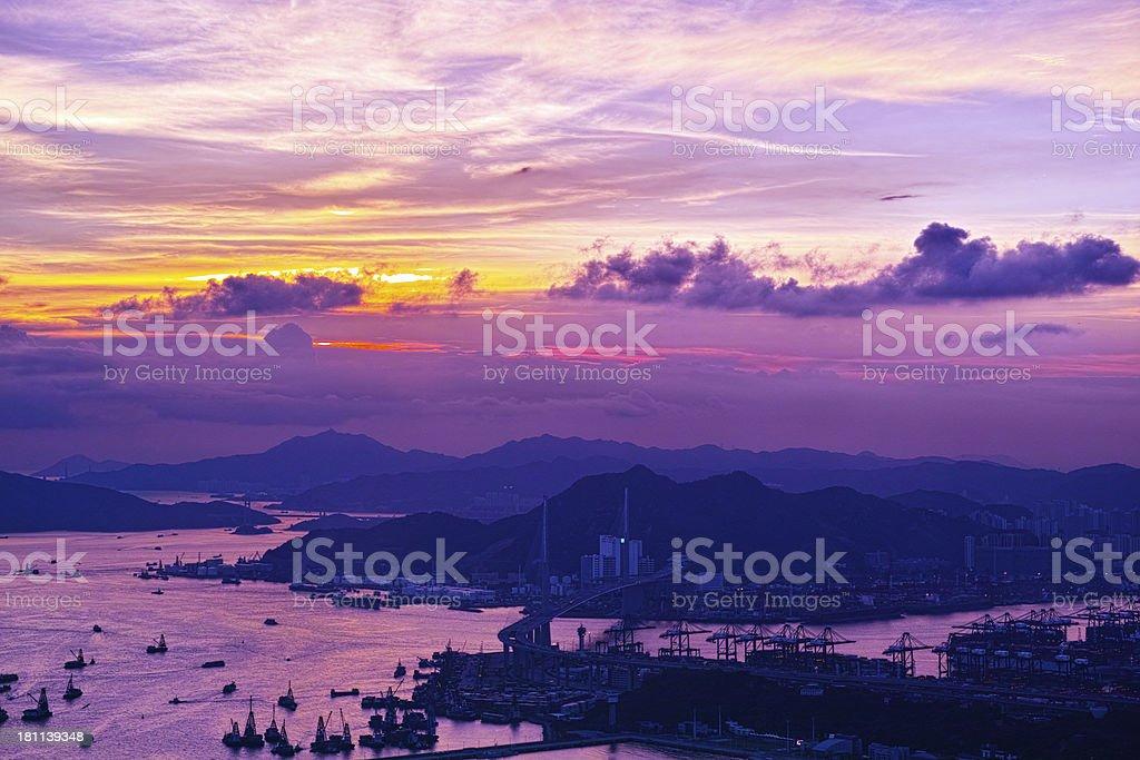 Container Terminals Kwai Tsing Hong Kong royalty-free stock photo