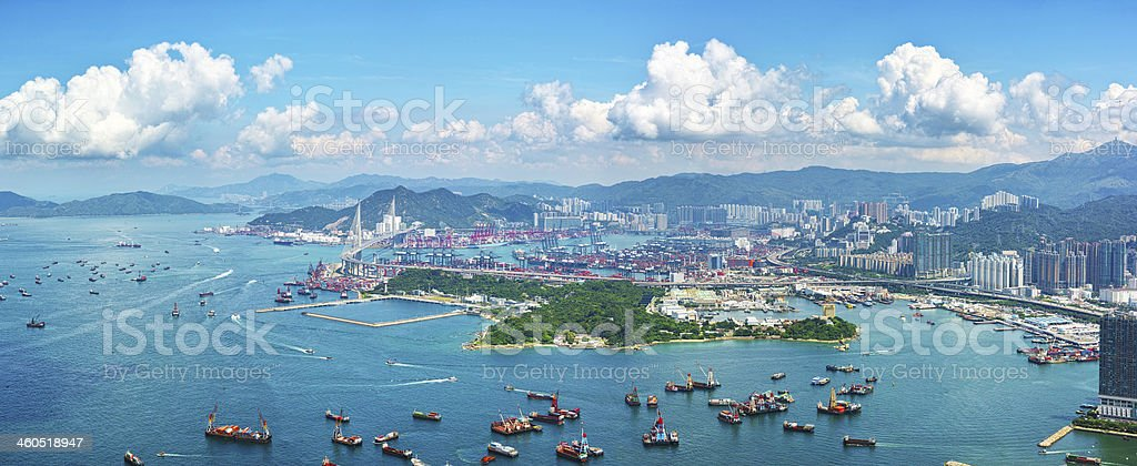 Container Terminals Kwai Tsing Hong Kong stock photo