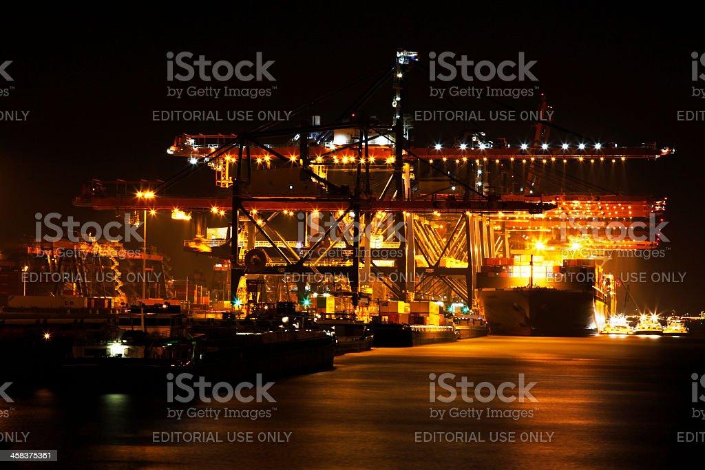 Container Transhipment stock photo