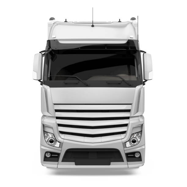 container truck isolated - front view stock pictures, royalty-free photos & images