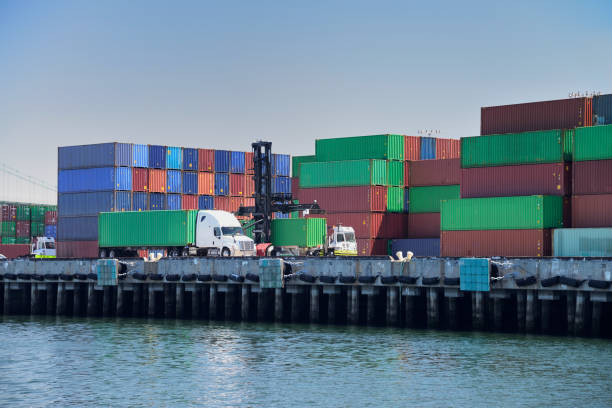 Container Trucks stock photo
