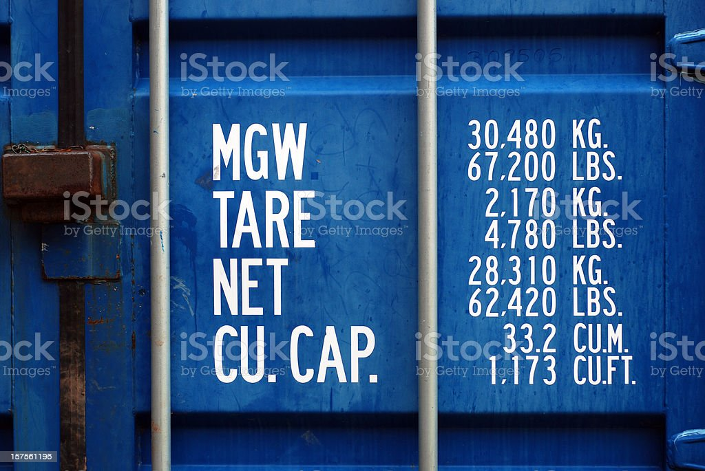 Container weight stock photo
