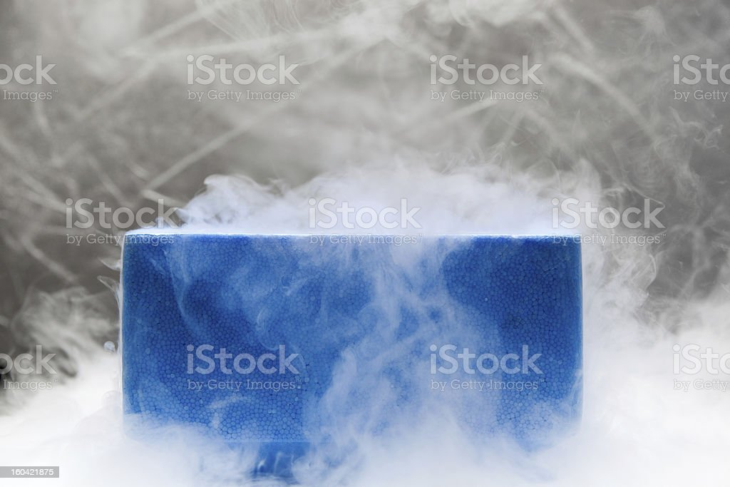 Container with liquid nitrogen stock photo