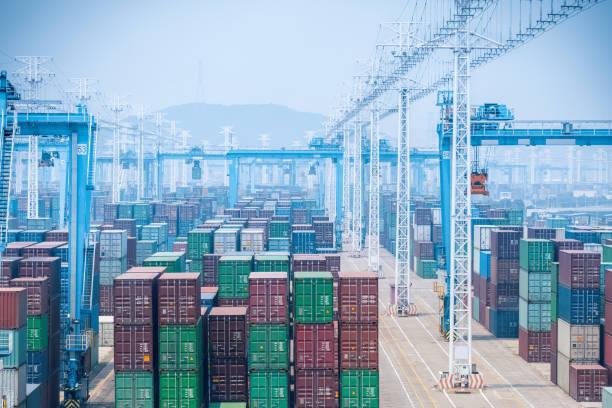 container yard, Nahaufnahme – Foto