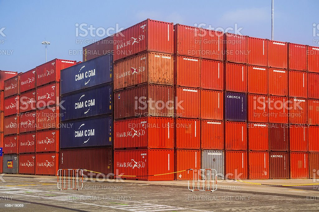 Containerized Freight royalty-free stock photo