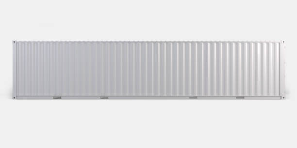 Containers 3D Rendering 40 Feet Long Container 3D Rendering AM stock pictures, royalty-free photos & images