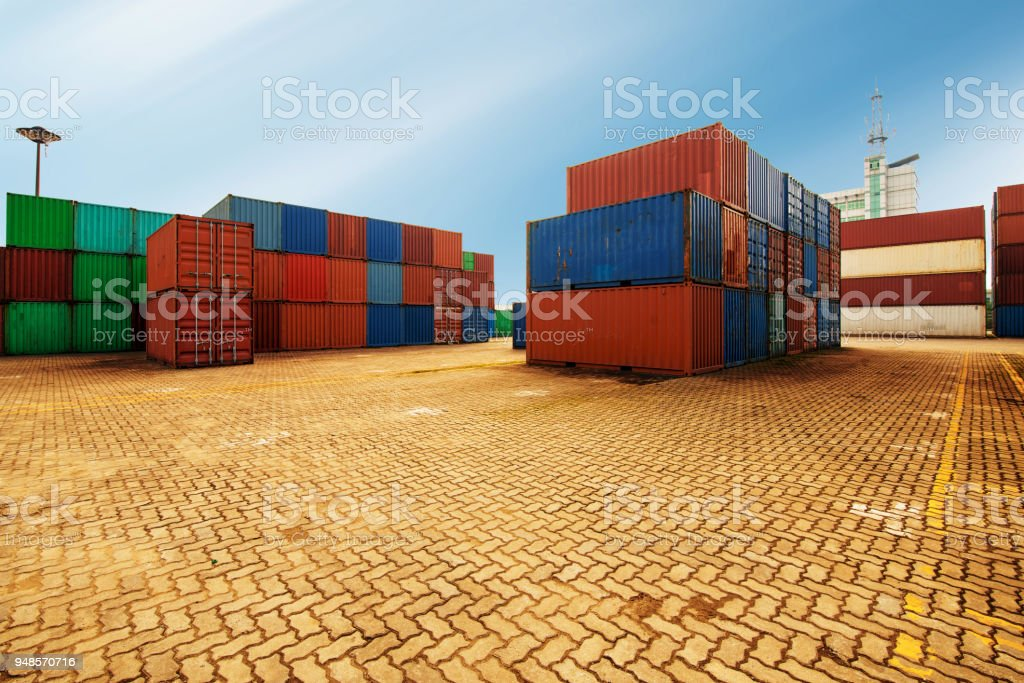 Containers box from Cargo freight ship for import export,logistic...