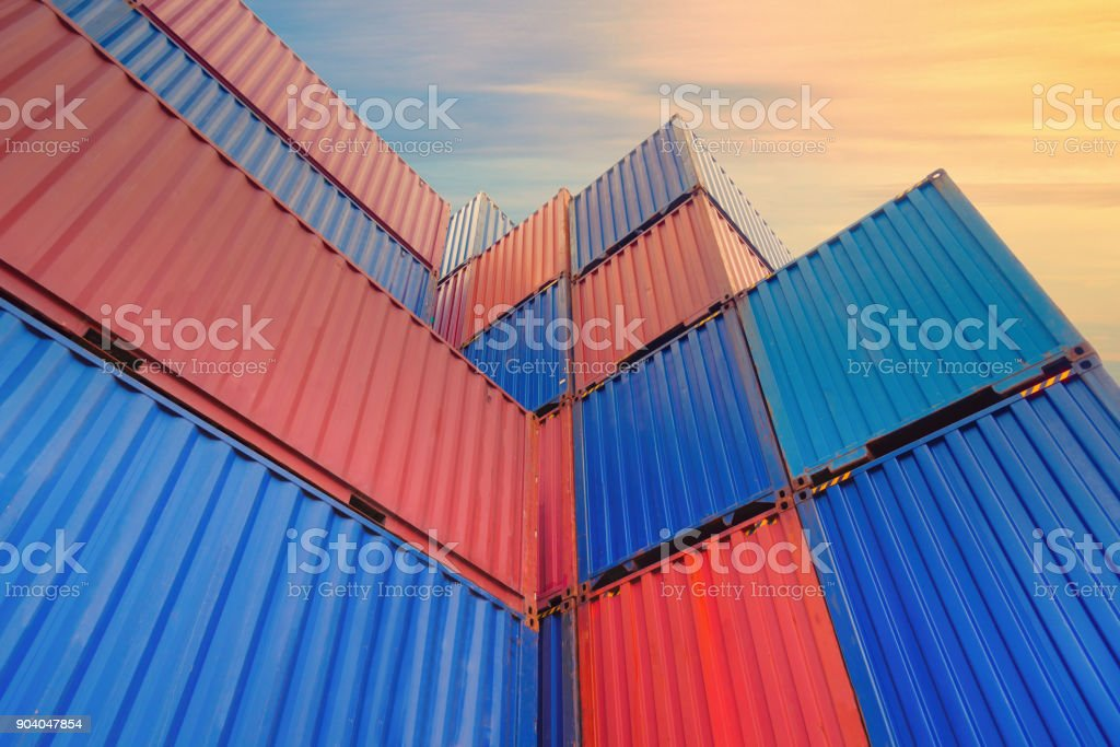 Containers box. stock photo