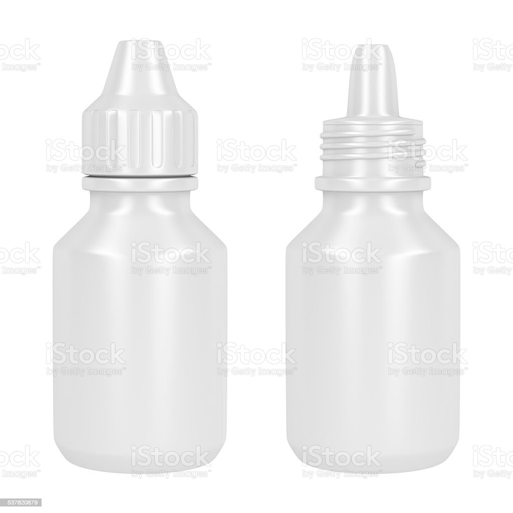 Containers for eye drop stock photo