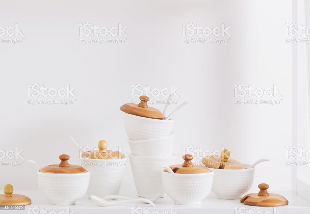 containers for spices on the shelf royalty-free stock photo