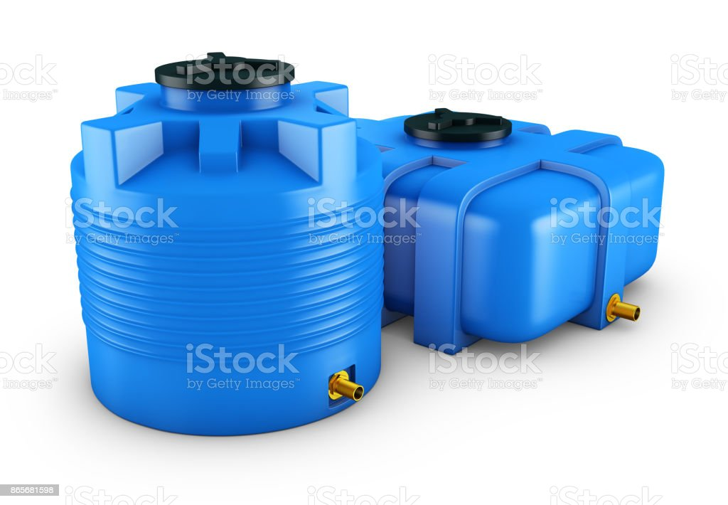 Containers for water stock photo
