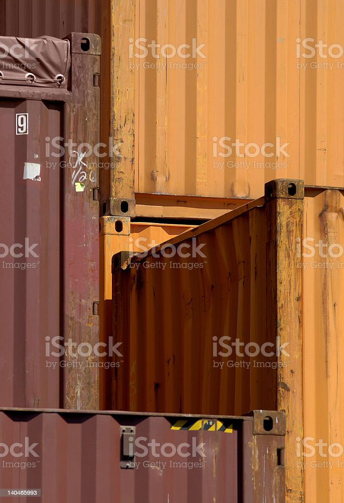 Containers in Montreal royalty-free stock photo