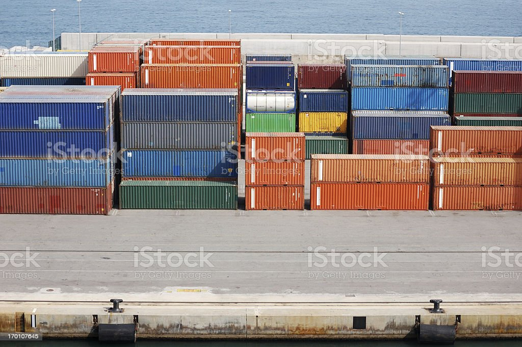 Containers in Port royalty-free stock photo